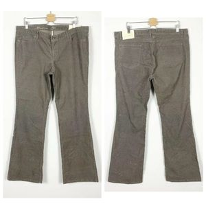 Loft Corduroy Pants Modern Boot Zipper NEW *Flaw